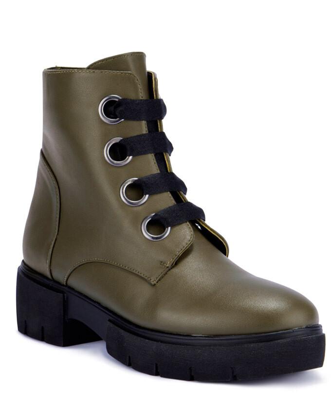 3212 Half Boot - darkgreen