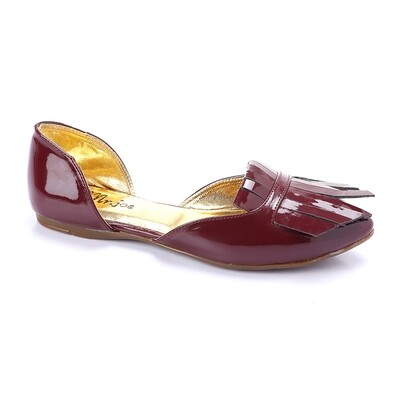 3262 Flat Shoes - burgundy