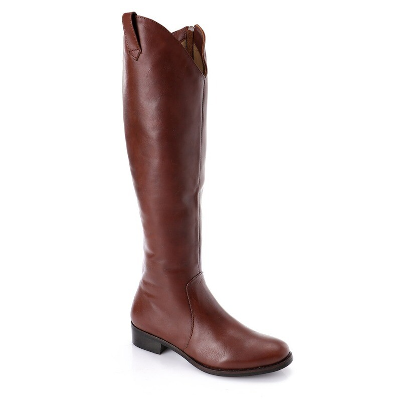 3762- Leather natural Boot - brown