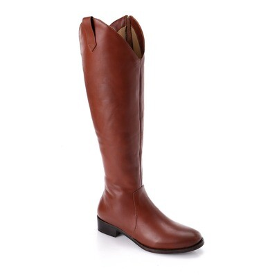3762- Leather natural Boot - camel