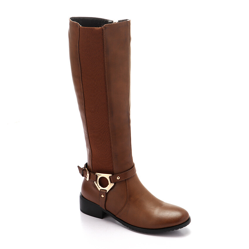 3296- Leather Boot - light brown
