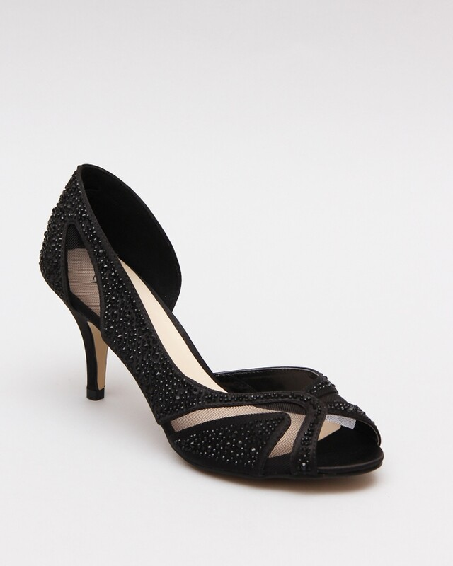 3584 Open Toe Heeled - Black