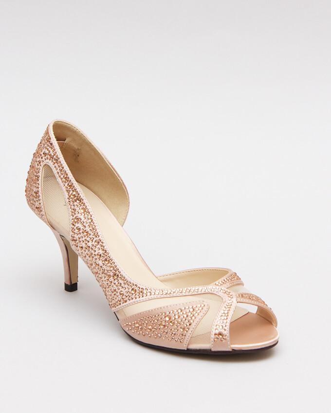 3584 Sandal Heeled - Champagne