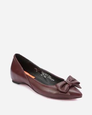 3199 Flat Shoes - burgundy