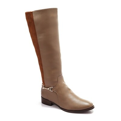 3225- Leather Boot - cafe