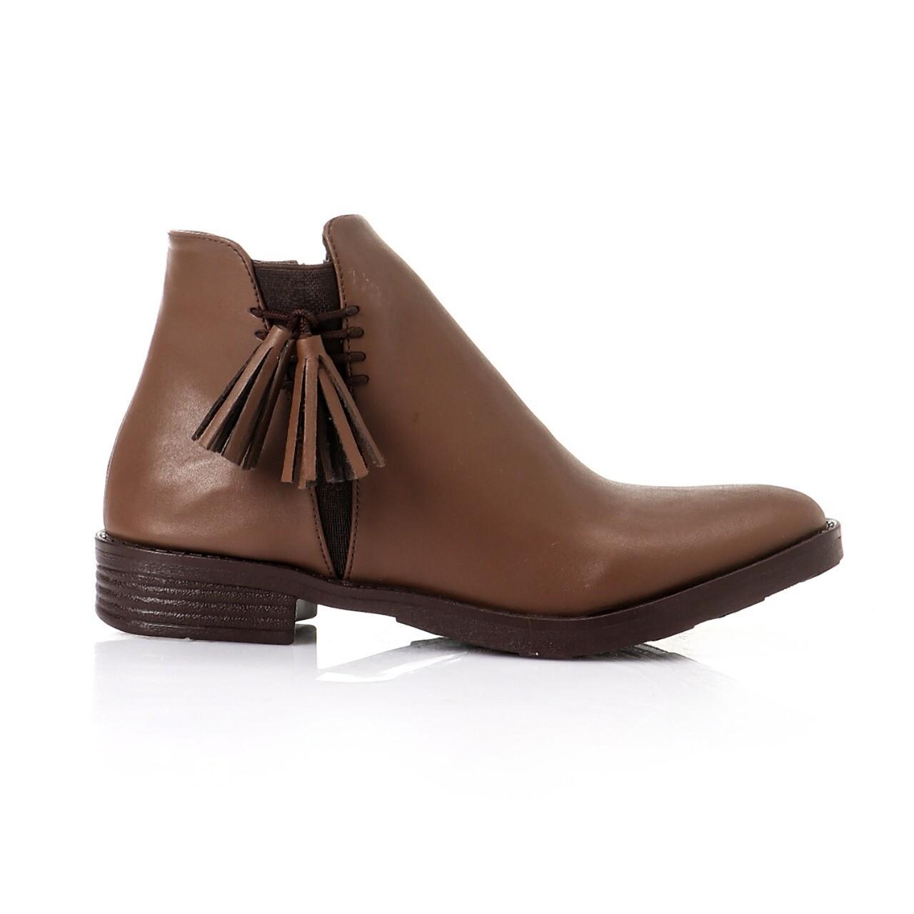 3750-half boot-BROWN