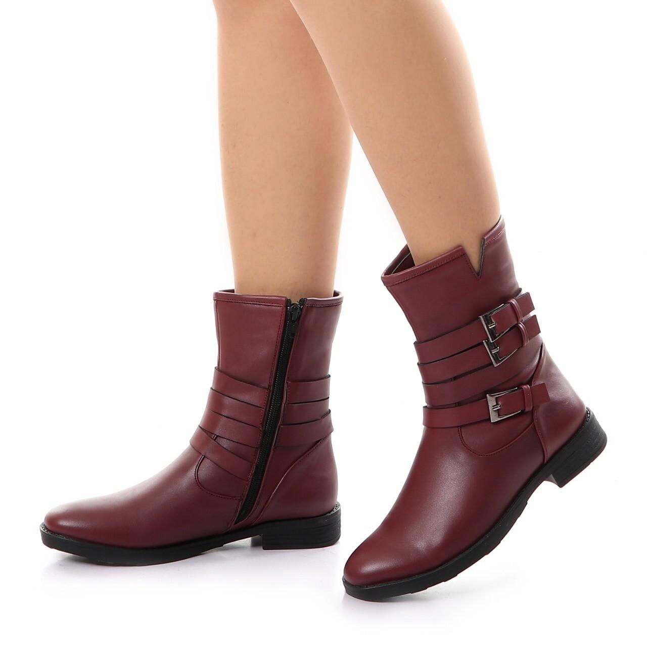 3739 Half Boot - BURGHANDY
