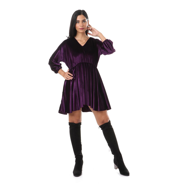 2636-Purple-Soiree Dress