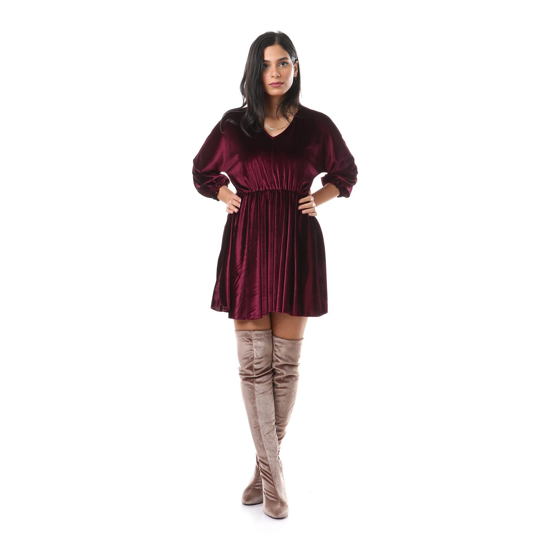 2636-Dark red-Soiree Dress
