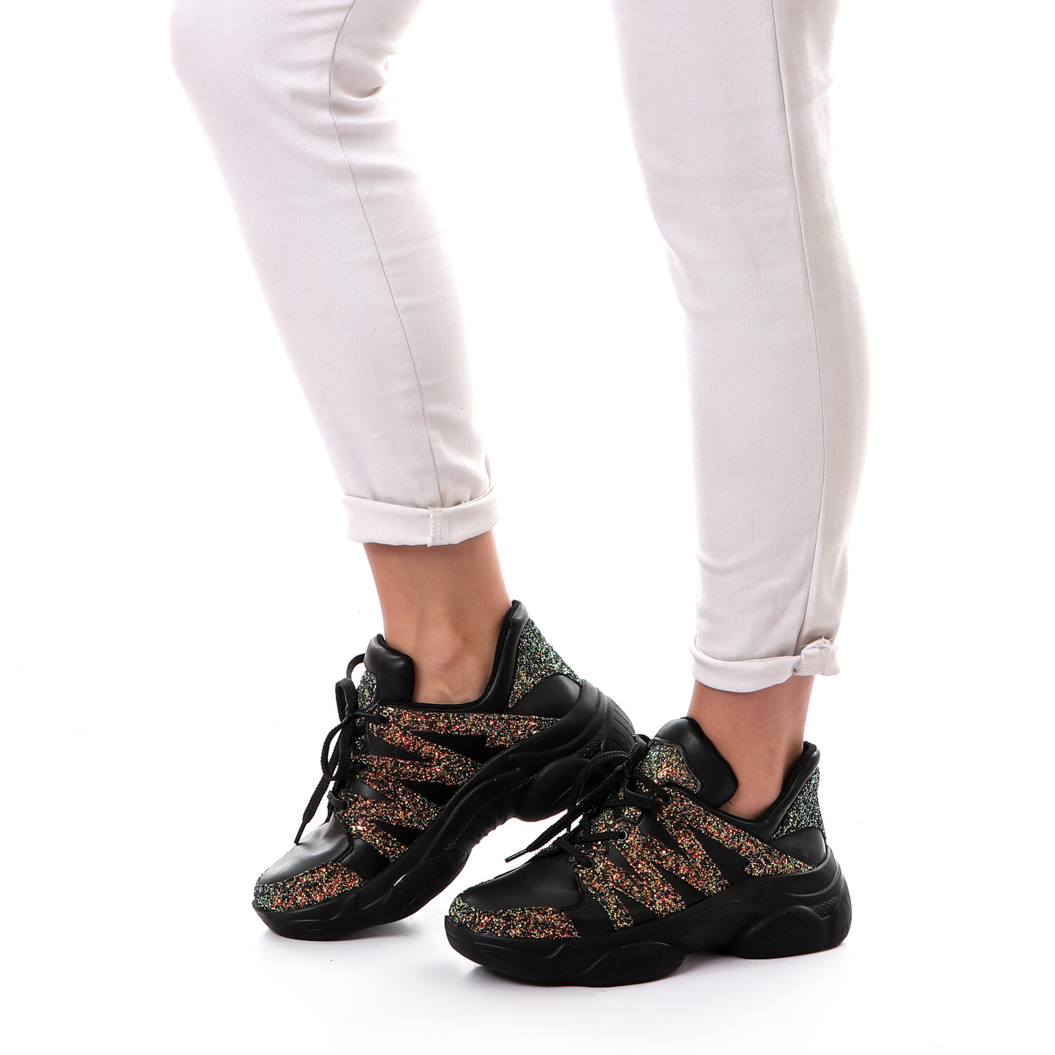 3764 Casual Shoes -Black