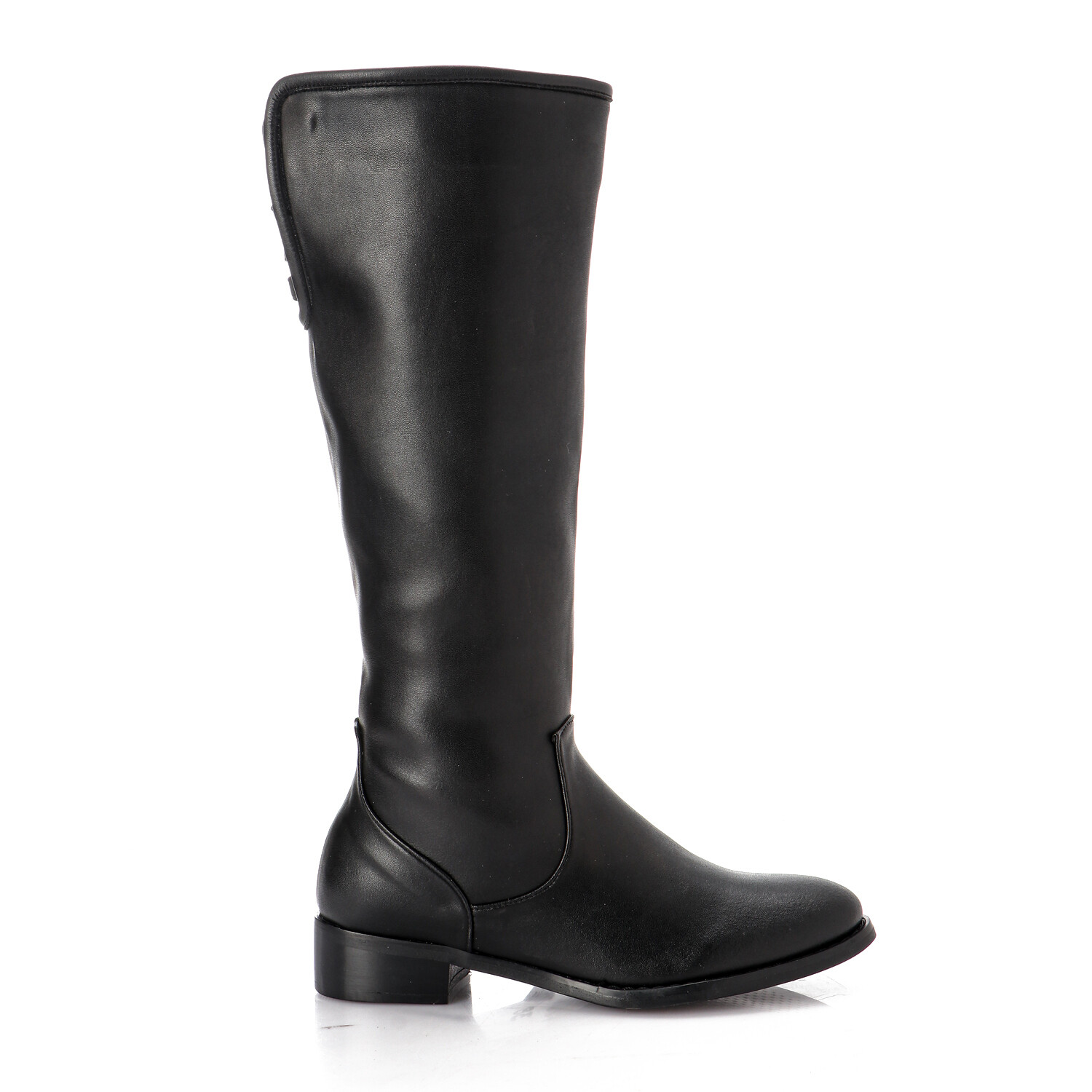 3752-Leather Boot - Black