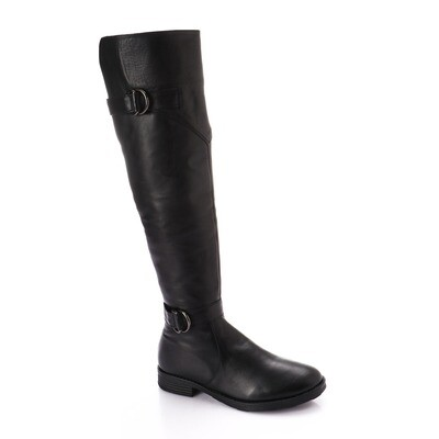 3763 Knee High Boot - Black