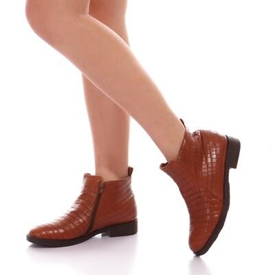 3761 Half Boot crocodile - Camel