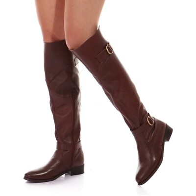 3763 Knee High Boot -Brown