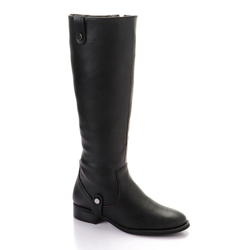 3313- Leather Boot - Black