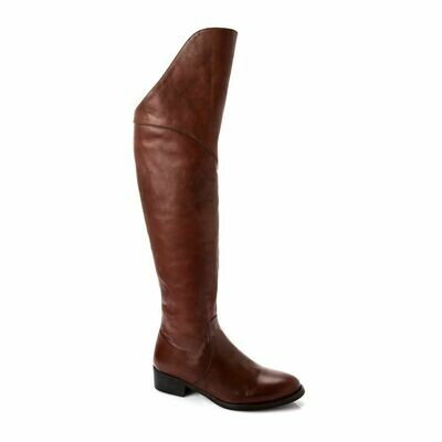 3771 Knee High Boot -Brown
