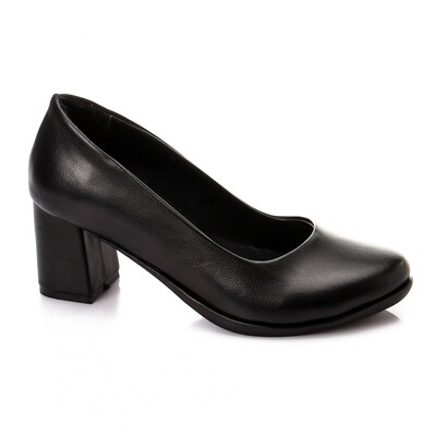 3473 Shoes - Black Leather