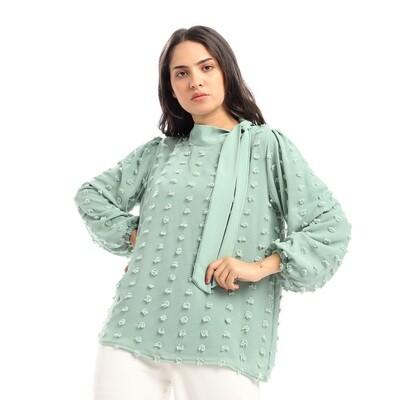 2650- Green_ blouse