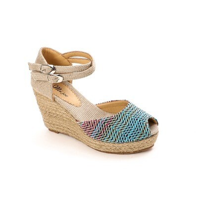 3796 Sandal - Fushia& Blue