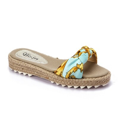 3373 Slippers Light Blue*Gold