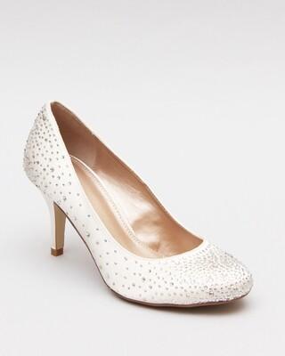 Shoes Satin3587 White