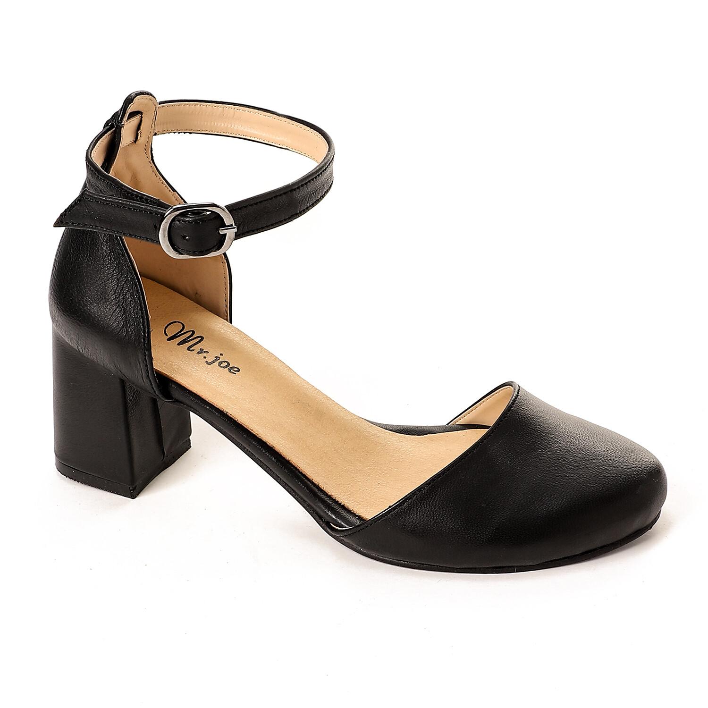 3816 sandal - black-جلد طبيعي