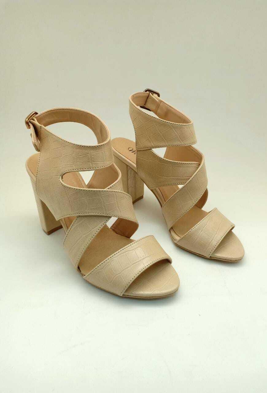 3485 Sandal begie crocodaile