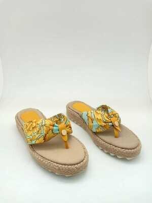 3371 Slippers Light Blue*Gold