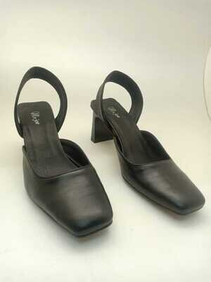 3803 sandal black real leather