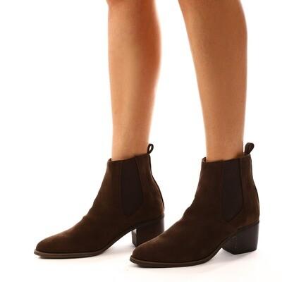 3901 Half Boot - Brown SU