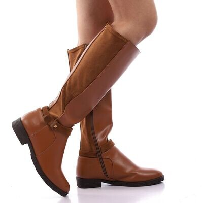 3921- Leather Boot - Camel