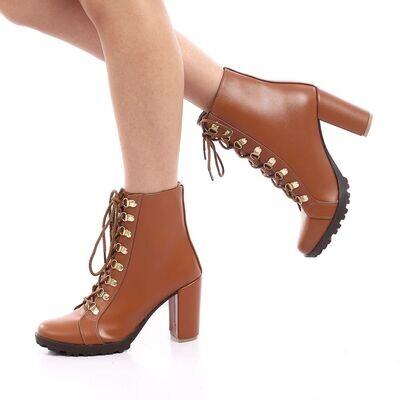 3907 Half Boot - Camel