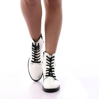 3900- Half Boot - White Vern