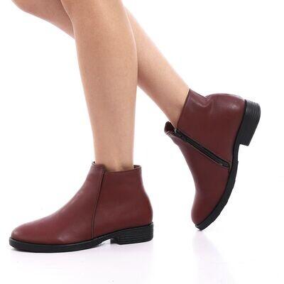 3825 Half Boot -Burgundy