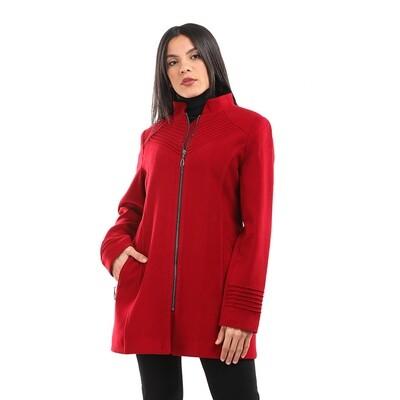 8202 Coat - Burgundy