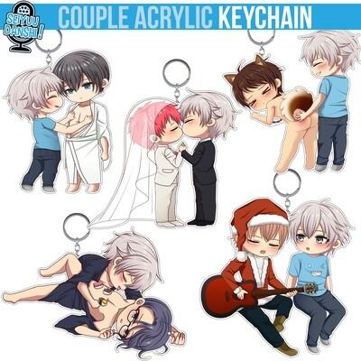 Couple acrylic keychain