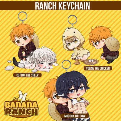 Banana Ranch Farming Acrylic Keychain