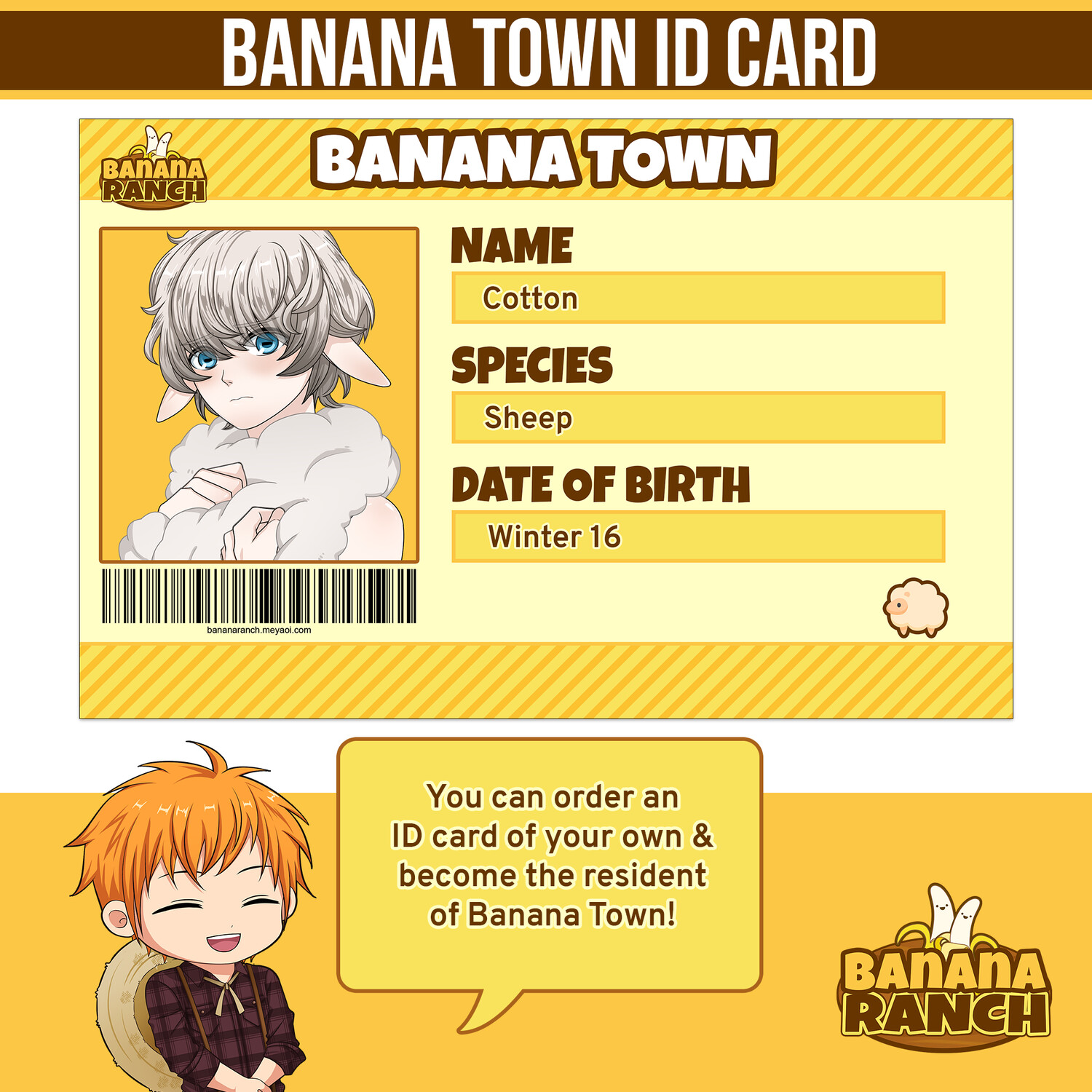 Banana Town ID Card