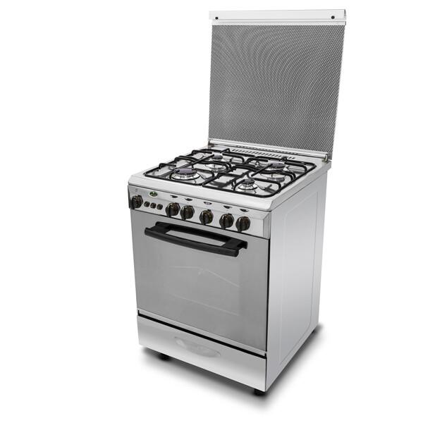 Kiriazi Oven 4 burners - Stainless Steel- 6600 فرن 6600 ستانلس ستيل -  4 شعلات