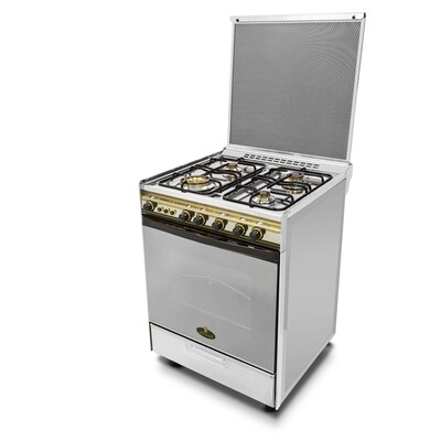 Kiriazi Oven 4 burners 6400 - Stainless Steel - Big Round Burner