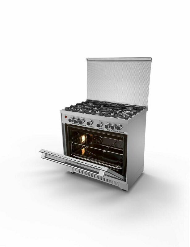 Kiriazi Oven Premiere Smart 5 Burners Stainless Steel 90FC9  فرن كريازى بريميير سمارت 5 شعلة ستانلس ستيل