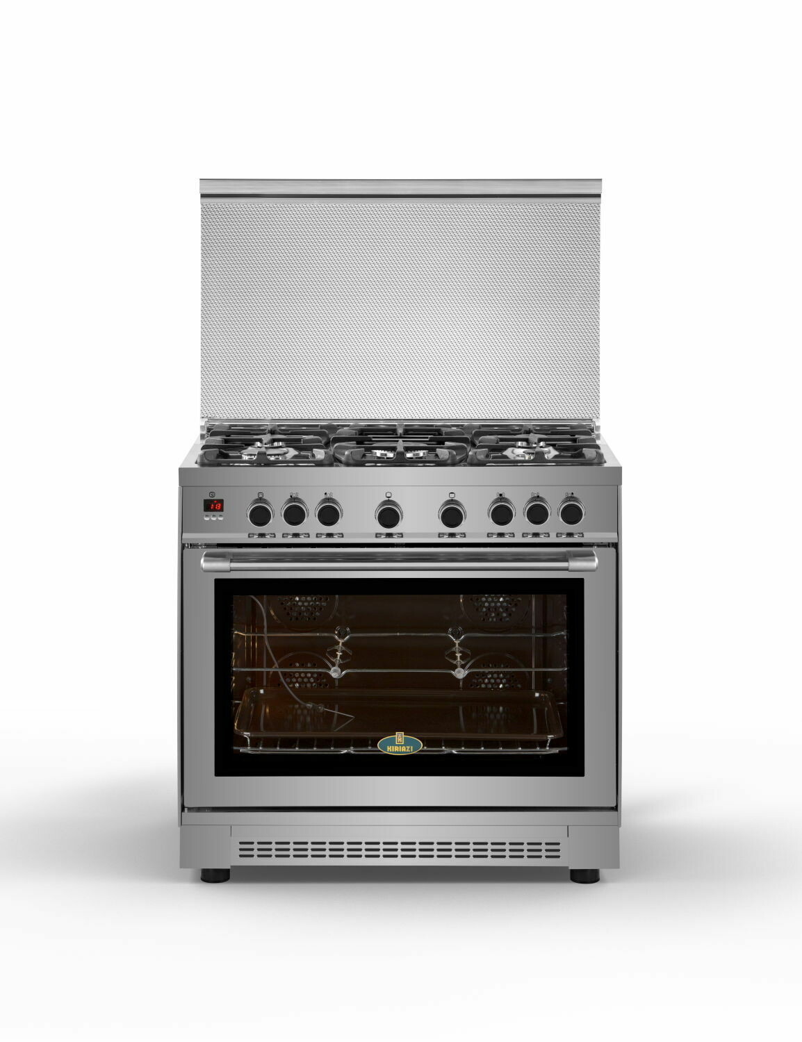 Kiriazi Oven Premiere Smart 5 Burners Stainless Steel 90FC9 - Bomb Gas 90FC9 - فرن كريازى بريميير سمارت
