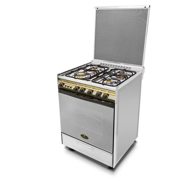 Kiriazi Oven 4 burners 6400 - 3 Gas Burners & 1 Electric Plate فرن 6400 -3 شعلات غاز -  1 كهرباء