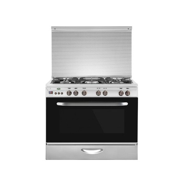 Kiriazi Oven 5 Burners - Stainless Steel -9604 XFD with Fan