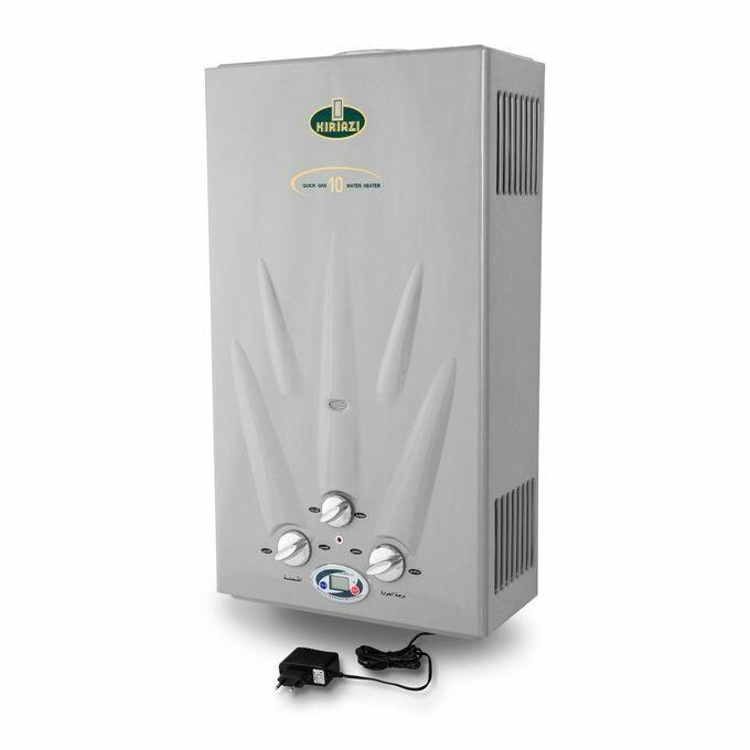 Kiriazi KGH 10 L  Water Heater With Adapter - Bomb Gas