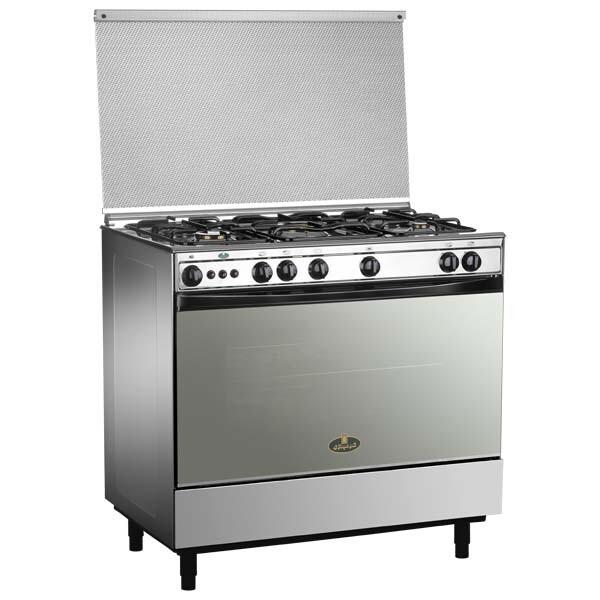 Kiriazi Oven 5 Burners - Stainless Steel -9700 Jocker Deluxe فرن كريازى 5 شعلة -  ستانلس ستيل - 9700 جوكر دى لوكس