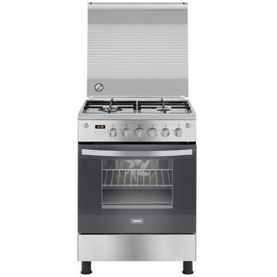 Zanussi Freestanding Digital Gas Cooker ZCG64396XA فرن غاز زانوسي، 4 شعلة