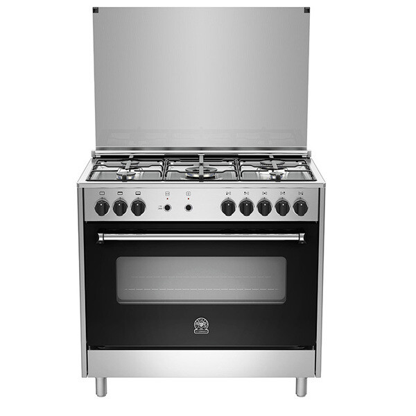 La Germania Freestanding Cooker - 5 Gas Burners -AMS95C31DX بوتاجاز لاجيرمانيا - 5 شعلة غاز
