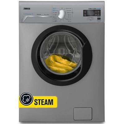Zanussi ZWF8251SBV Washing Machine - Inverter Steam - 1200RPM - 8KG - Silver