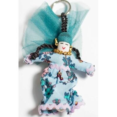 ميدالية مفاتيح فلاحة - ازرق